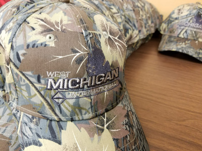 Embroidery on Camouflage Cap