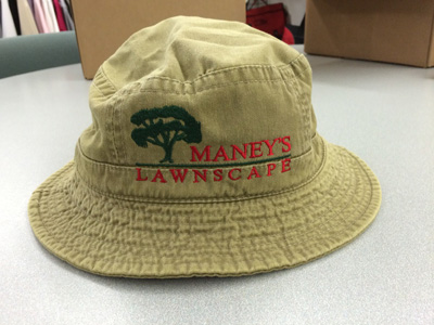 Custom Embroidery on a Bucket Hat