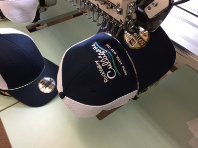 Custom Hat Embroidery In Action On An Embroidery Machine
