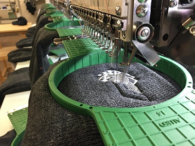 Custom Knit Hat Embroidery On An Embroidery Machine