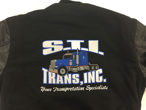 full back embroidery of semi truck